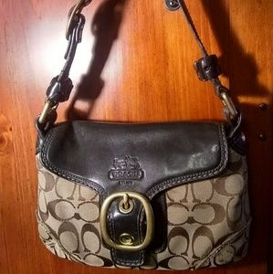 Coach mini purse,black,brown and beige